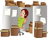 Office Clerk Illustration   Royalty Free Clip Art