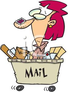 Office Mail Clerk   Royalty Free Clipart Picture