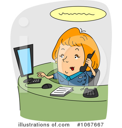 Receptionist Clipart  1067667 By Bnp Design Studio   Royalty Free  Rf