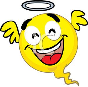 Smiley Face Angel Clip Art Image