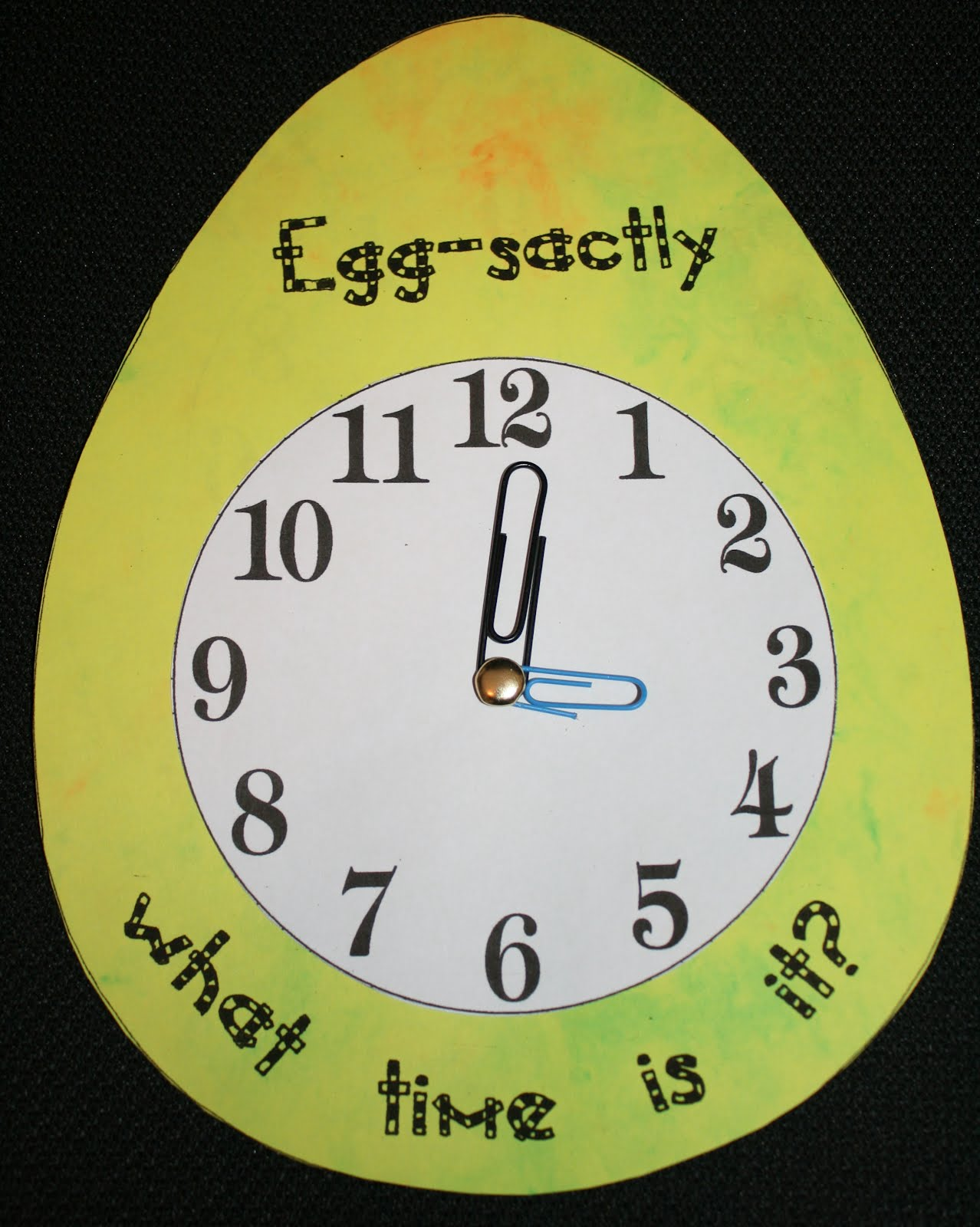 Telling Time Clip Art
