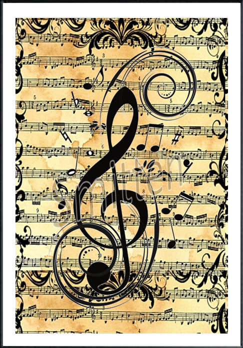 Treble Clef Art On Pinterest