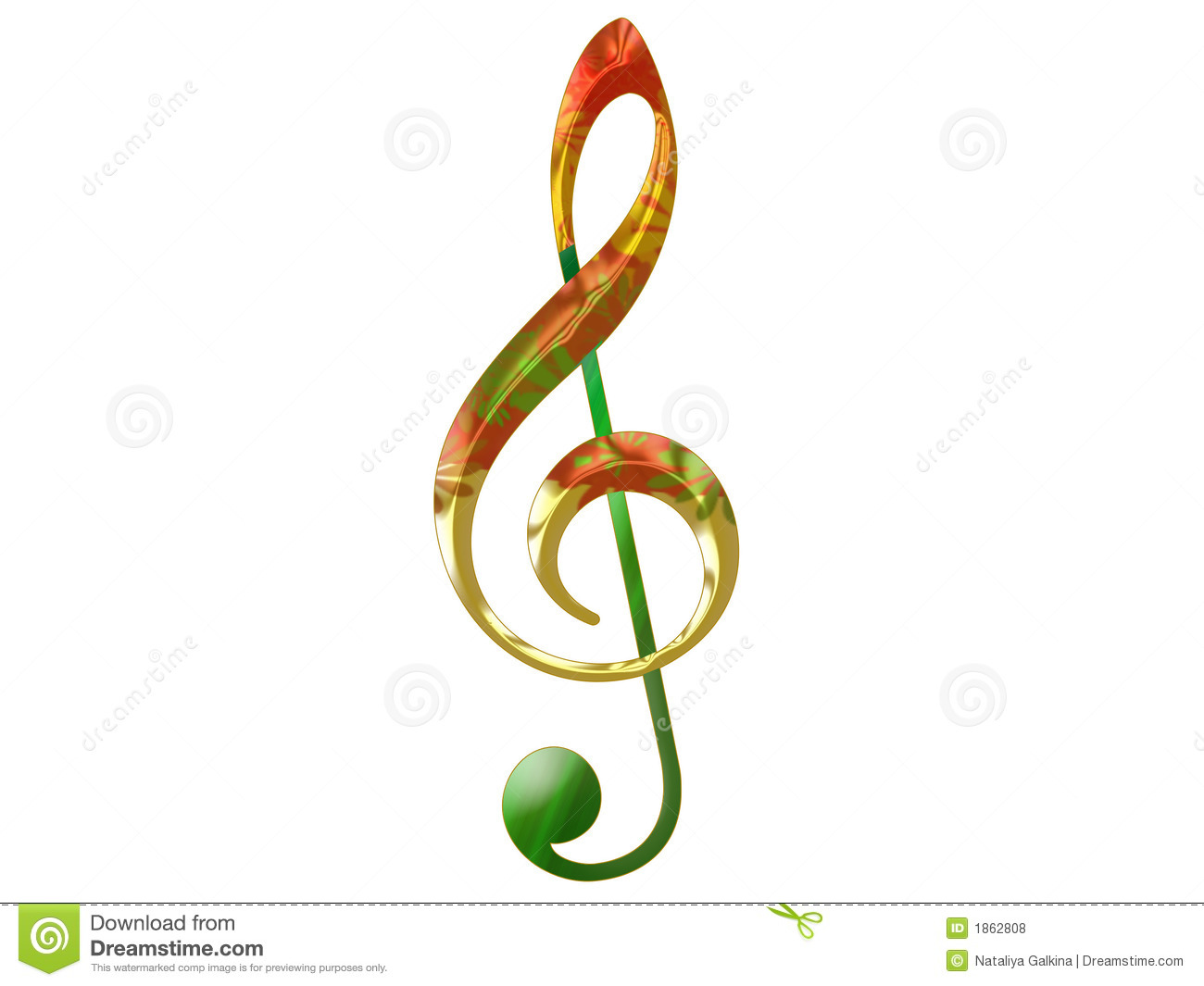 Treble Clef Royalty Free Stock Photos   Image  1862808