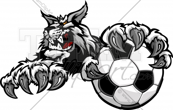 Wildcat Claws Wildcat Soccer Cartoon Mascot