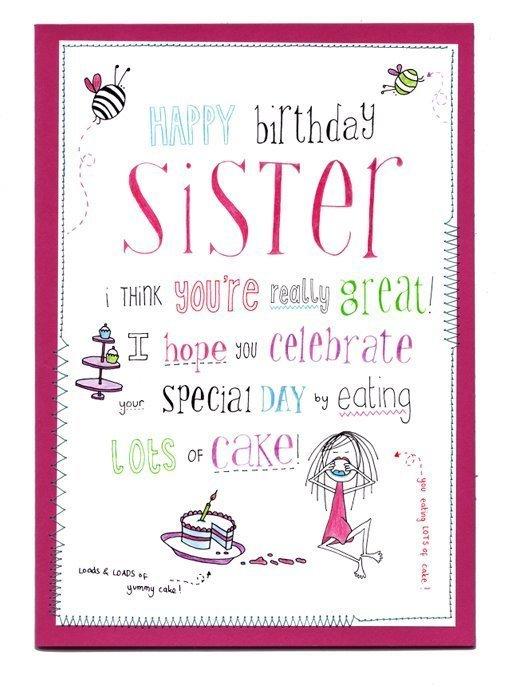 Happy Birthday Sister Clipart Clipart Kid – Happy Birthday Sis Cards