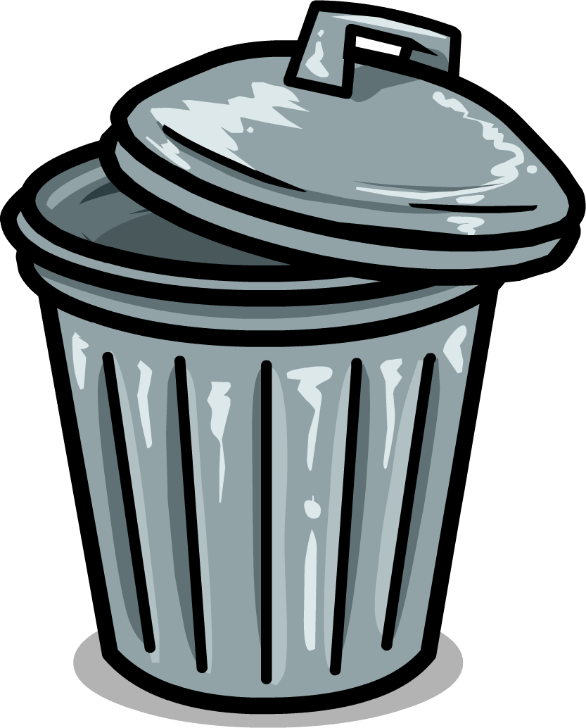 Clip Art Garbage Can A Trash Can   Clipart Best