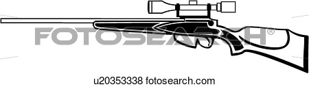 Clip Art    Gun Hunting Rifle Weapon   Fotosearch   Search Clipart