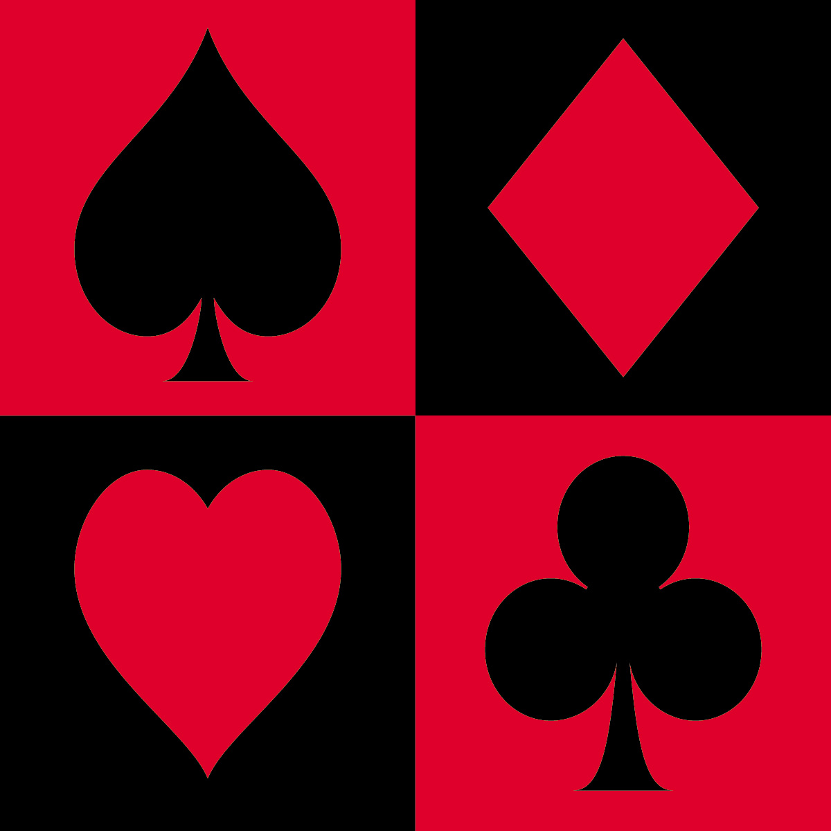 Playing Card Suits Clipart Clipart Suggest