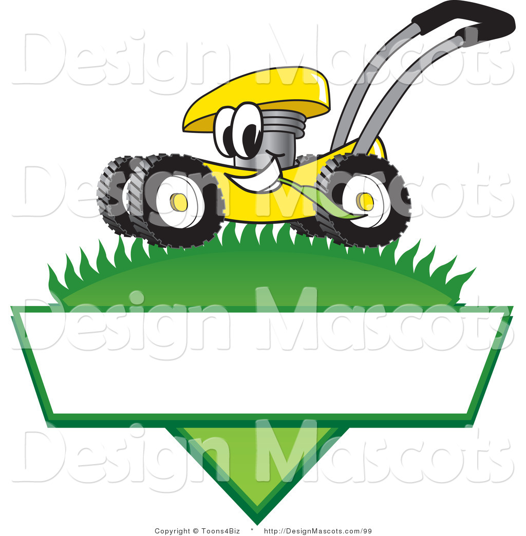 Clipart Of A Yellow Lawn Mower   Royalty Free By Toons4biz    99