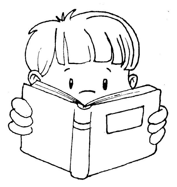 Cute Clip Art Of Kids Reading  Kids Color Free Kids Reading Clipart