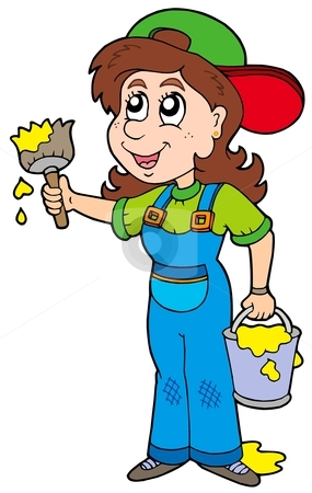 clip art female painting clipart clipart suggest Professional House Painters Interior House Painting Clip Art