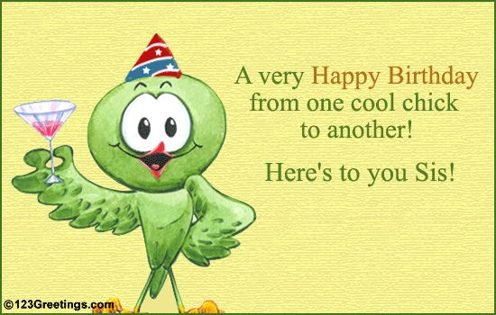 happy birthday sister clipart  clipart kid, Birthday card