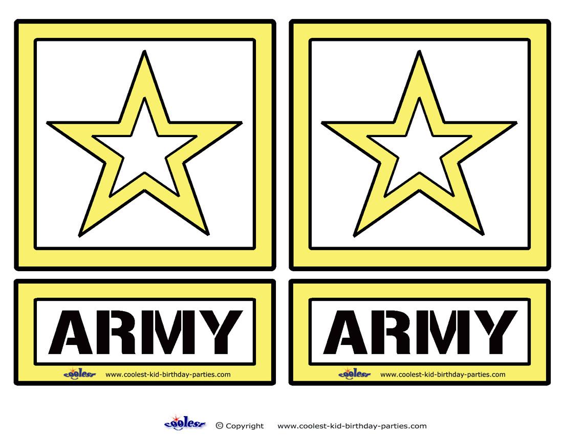 Medium Printable Army Star Decorations Coolest Free Printables Uqnc9f Clipart Suggest