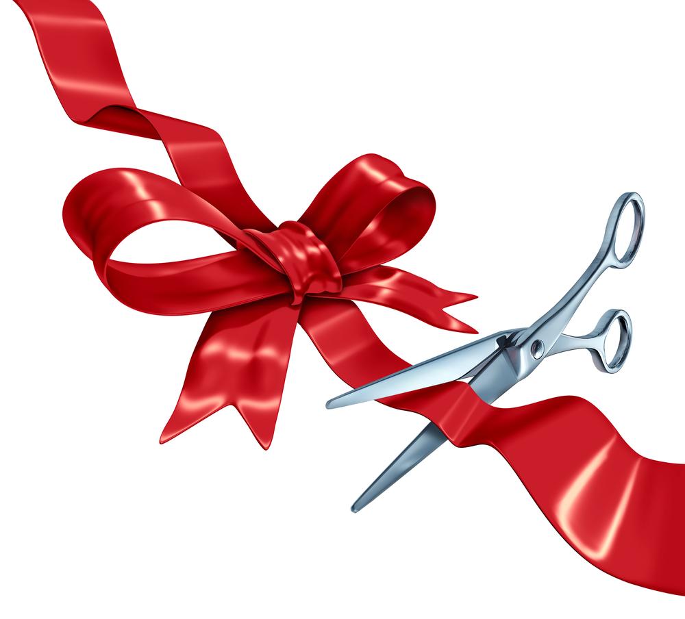 Ribbon Cutting Clipart - Clipart Kid