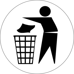 Put Rubbish In Bin Signs Clip Art At Clker Com   Vector Clip Art