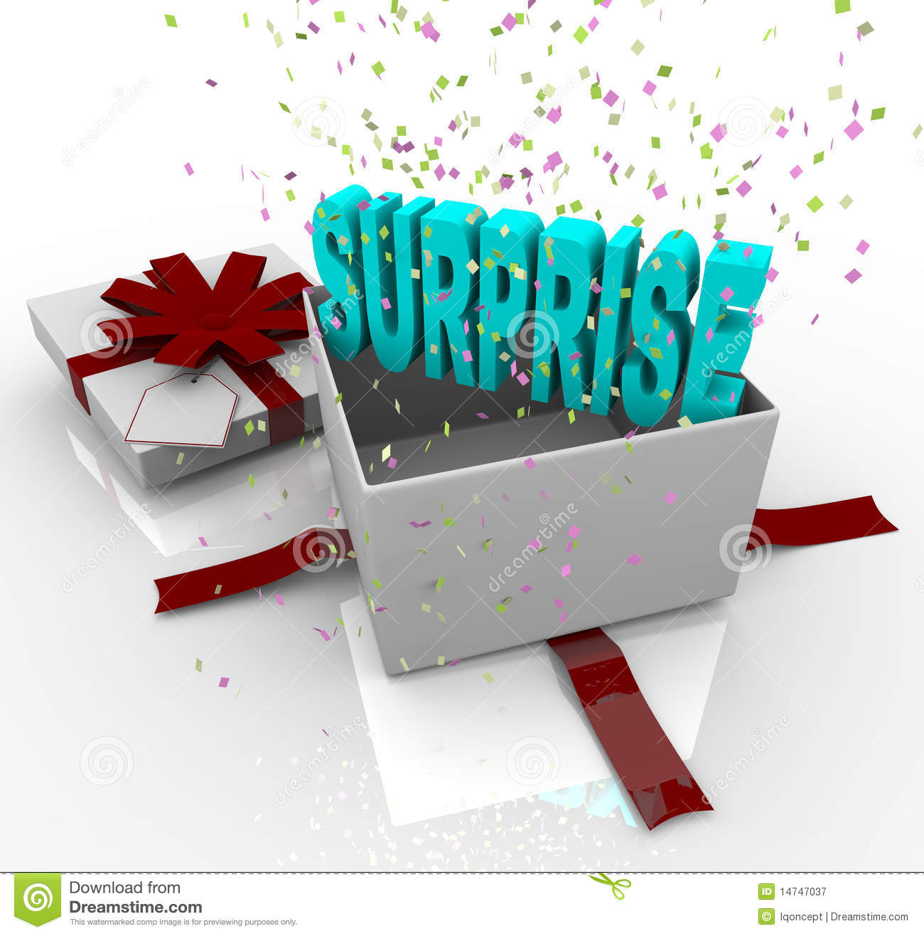 Royalty Free Stock Photography  Surprise Present   Happy Birthday Gift