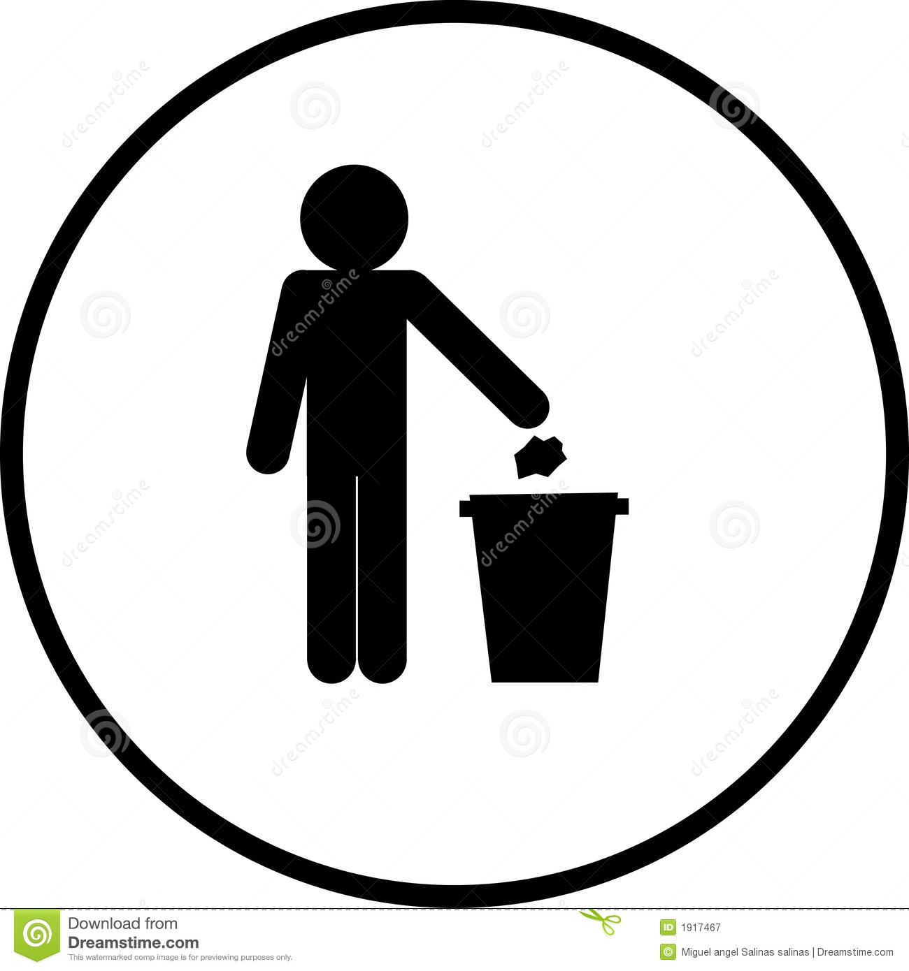 Throwing A Paper In A Trash Can To Be Used As A Sign Or Symbol