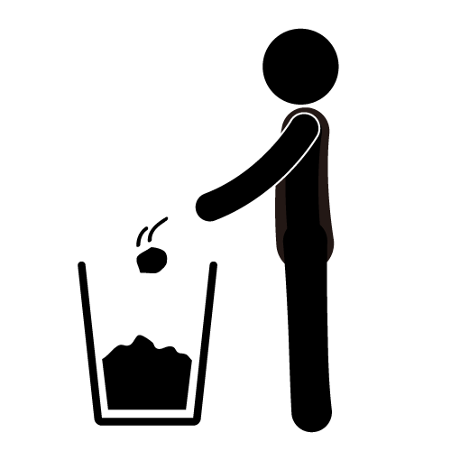 Trash In The Trash   Silhouette   Free Icon   Pictogram