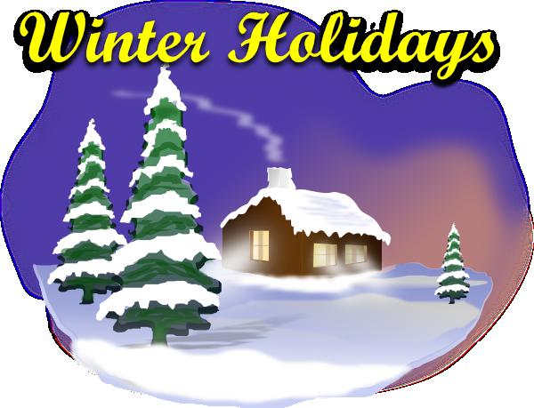 Winter Holiday Scene Clip Art At Clker Com Vector Clip Art Online
