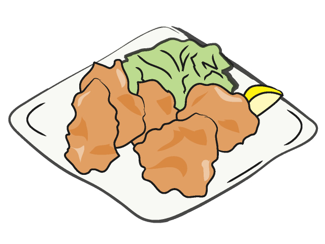 01 Fried Chicken   Karaage   Clip Art Images Download