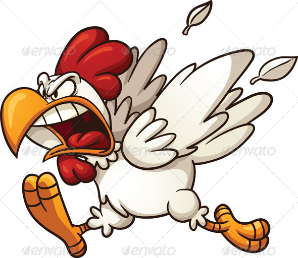 Angry Rooster Clipart - Clipart Kid