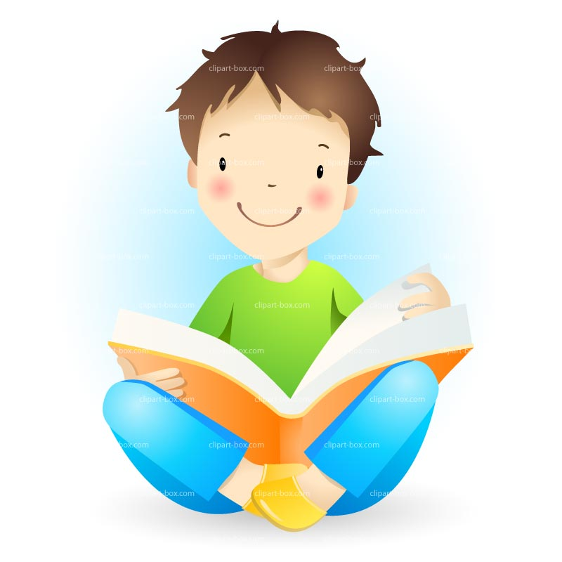 Boy Reading Clipart - Clipart Suggest