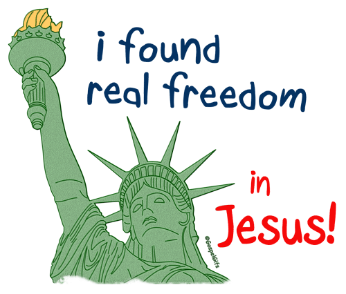 Christian Graphic  I Found Real Freedom In Jesus