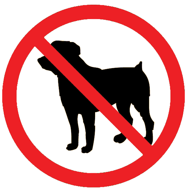 Clip Art Of A No Dogs Allowed Sign     Dixie Allan