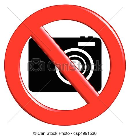Clip Art Vector Of No Photography Allowed   Illustration Of The Sign
