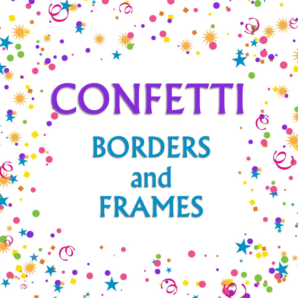 Confetti Borders Clip Art Graphic Frame Clipart By Carmenclipart