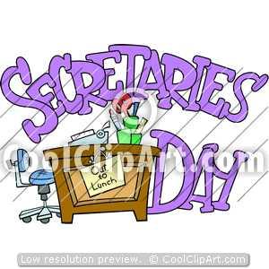 Coolclipart Com   Clip Art For  Secretarys Day Desk   Image Id 116113
