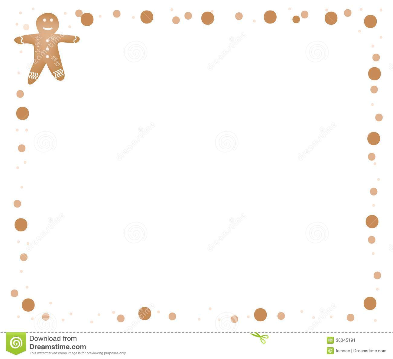 Gingerbread Man Border Clipart Clipart Suggest