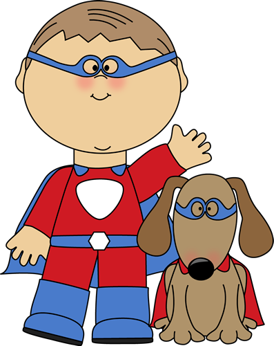 Free Super Hero Clip Art Borders Superhero And Dog Clip Art Image