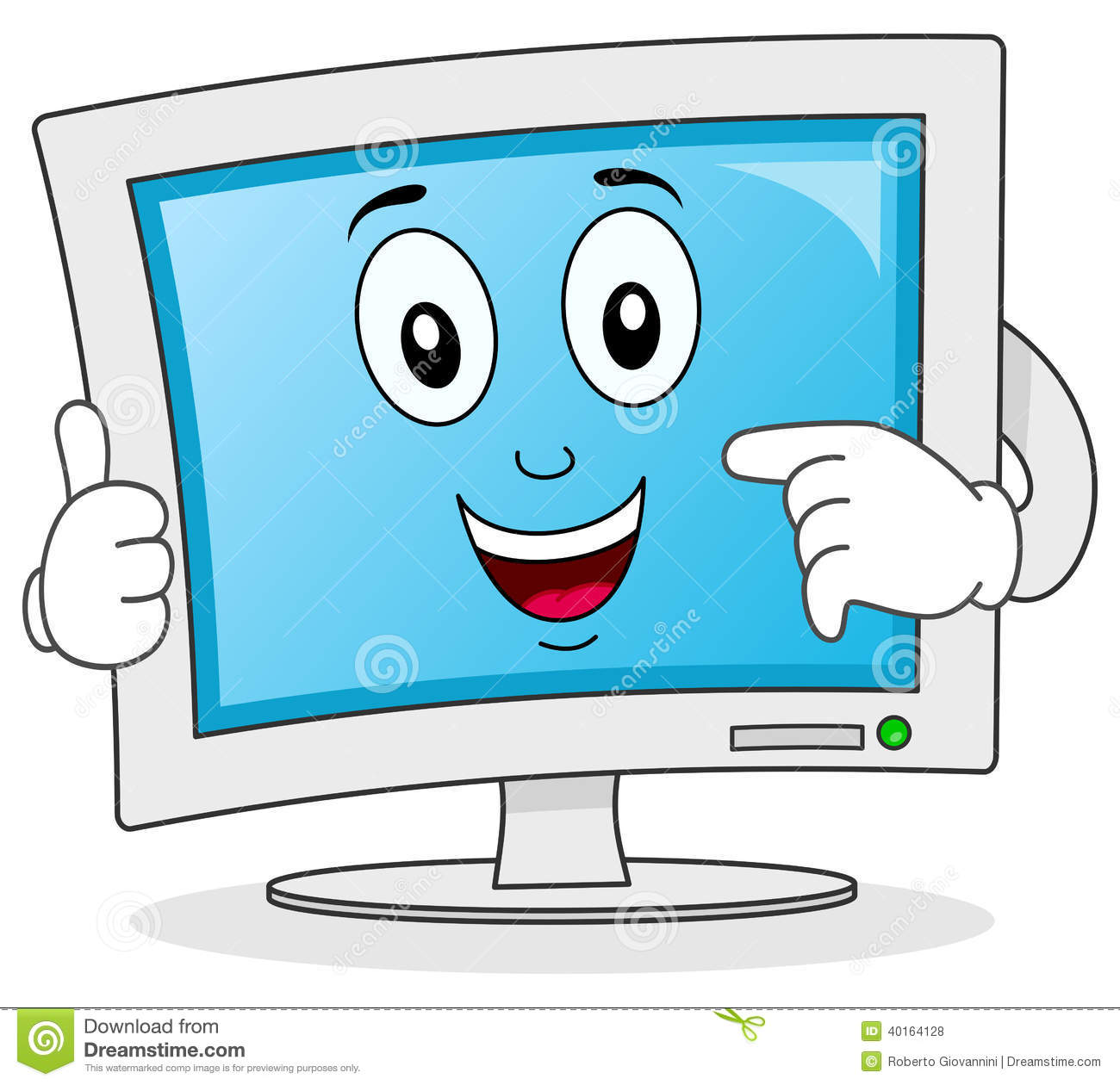 cartoon computer clipart clipart suggest