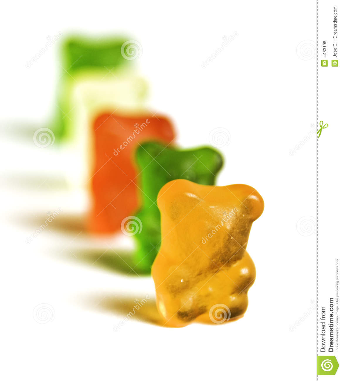Gummy Bear Row 3 Editorial Stock Photo   Image  4463198