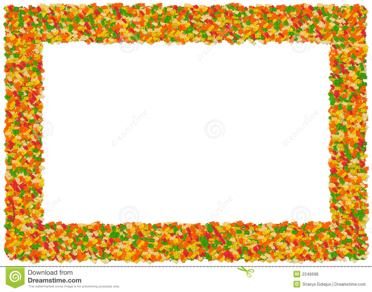 Gummy Bears Frame  From The Fo Editorial Stock Photo