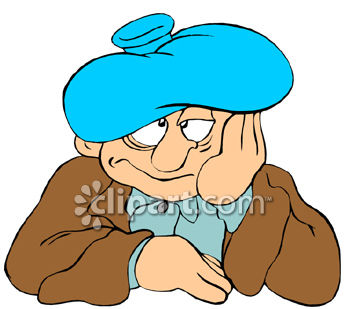 Hangover Wearing An Ice Pack On His Head Clipart Clipart Image Jpg