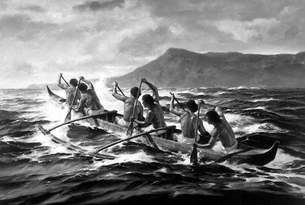 Hawaiian Canoe Drawing The Outrigger Canoe Club And