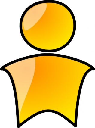 Head Symbol Yellow Person Clip Art Vector Free Vector Graphics