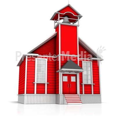 Old School House Clipart - Clipart Kid