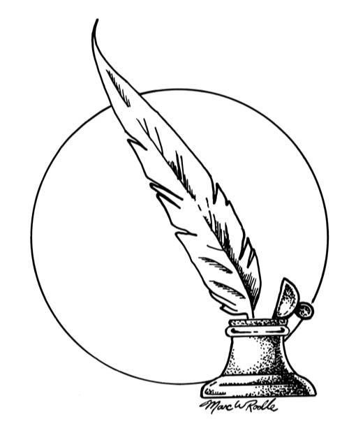 quill black and white clipart clipart suggest