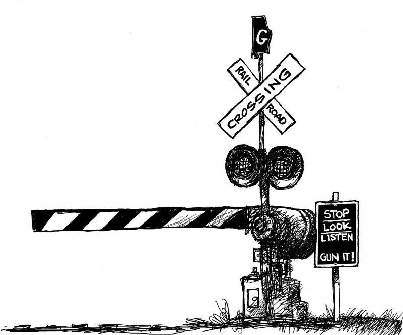 Railroad Crossing   Clipart Best