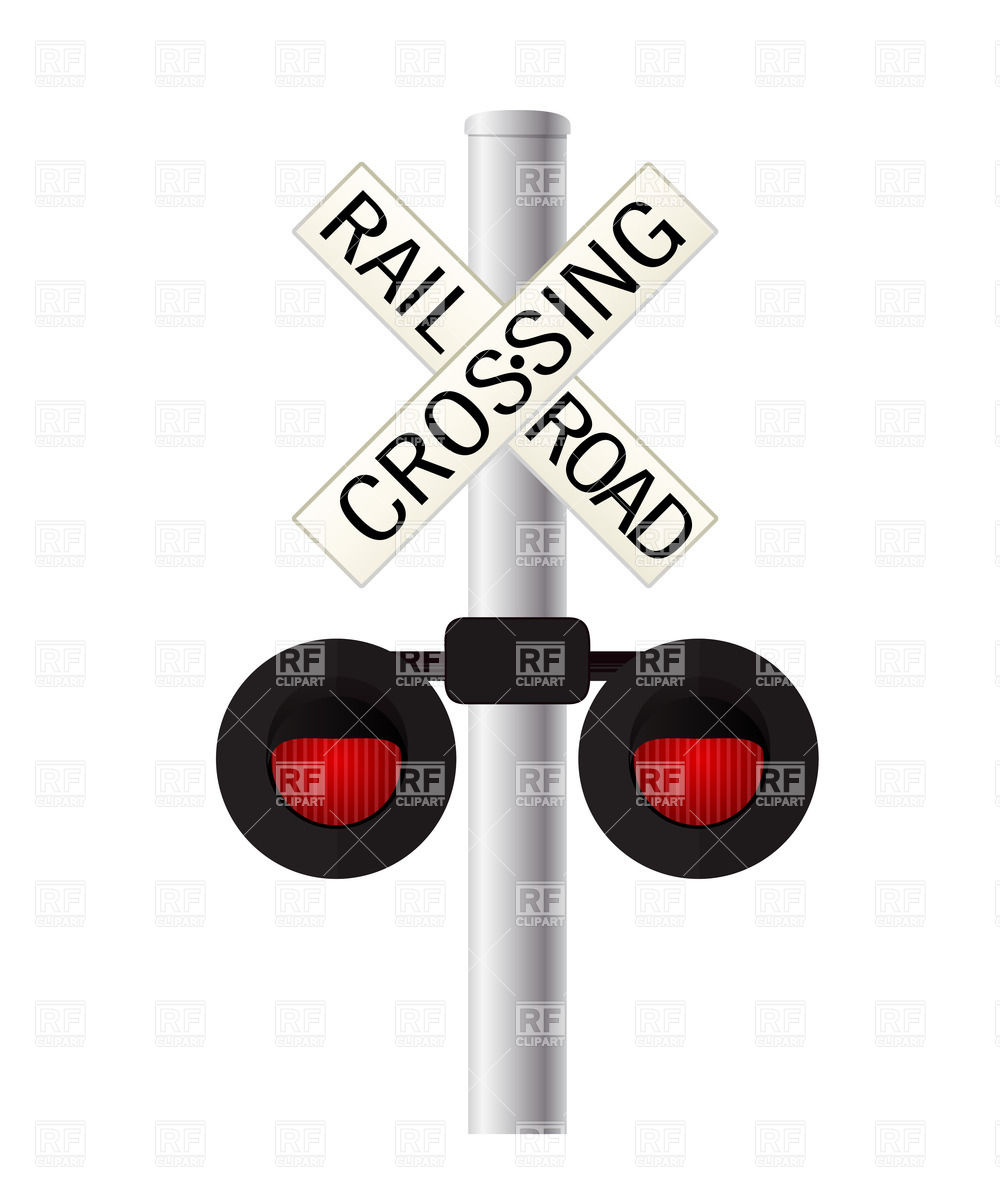 Railroad Crossing Signs Clip Art Railroad Crossing Sign Over