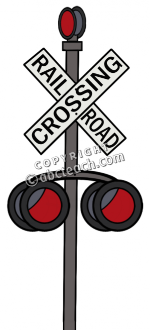 Sign Railroad Crossing Illustration Clip Art Train Color