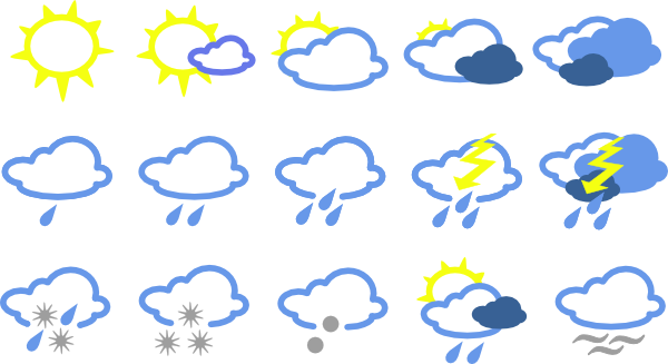 Simple Weather Symbols Clip Art At Clker Com   Vector Clip Art Online