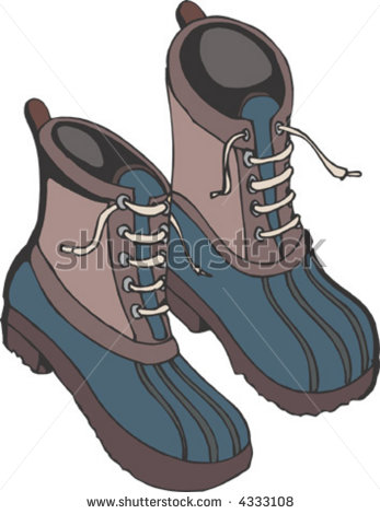 Snow Boots Clip Art Snow Boots   Stock Vector