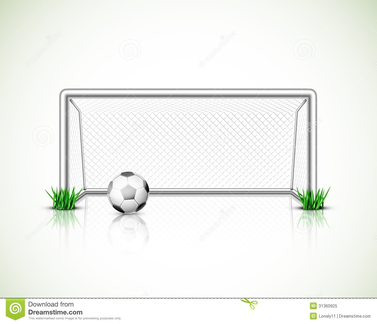 Soccer Goal And Ball Royalty Free Stock Photo   Image  31360925