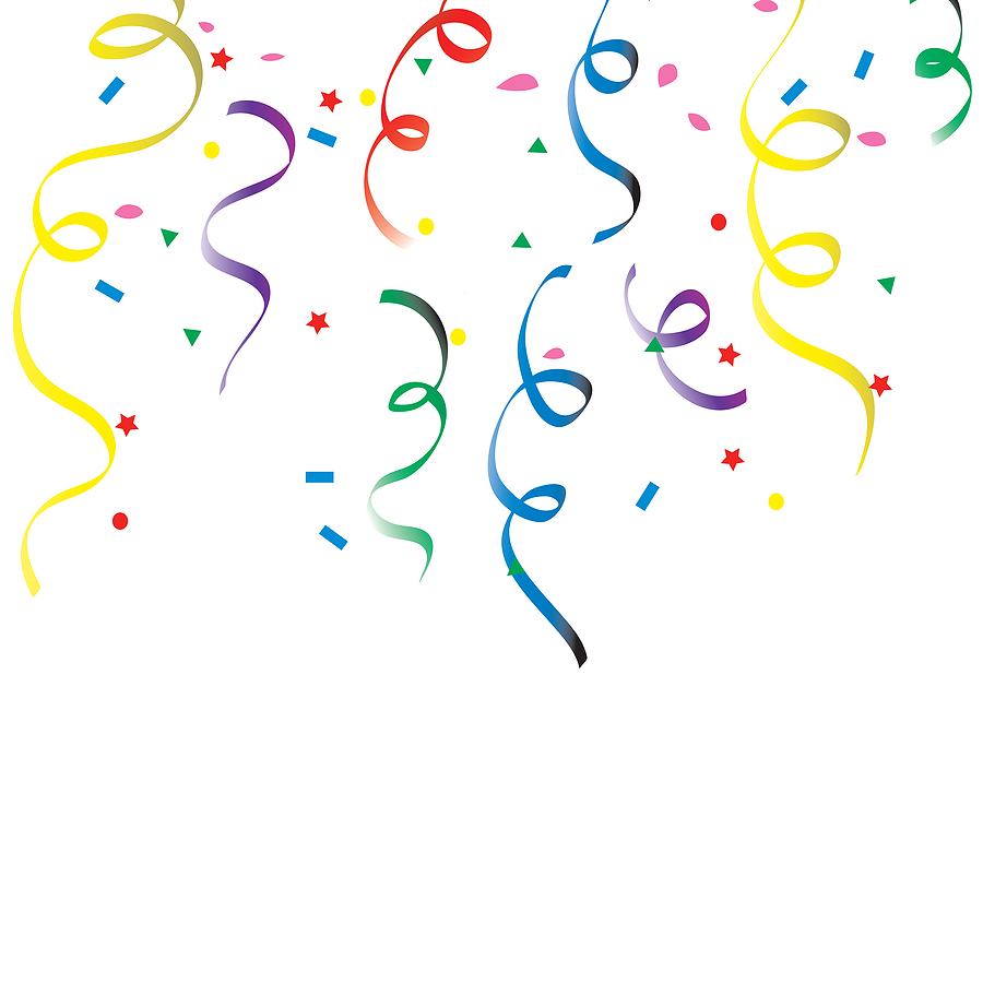 Streamers And Confetti Clipart - Clipart Kid