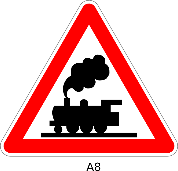 Train Crossing Sign Clip Art At Clker Com   Vector Clip Art Online