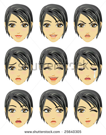 Vector Download   Facial Expression Of Woman  Asian Descent